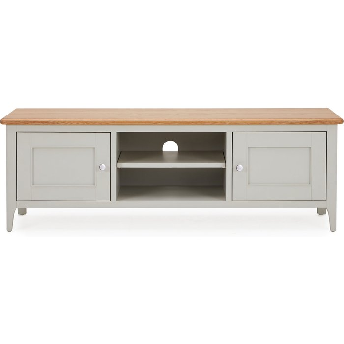 Freya Wide TV Stand Grey and Brown