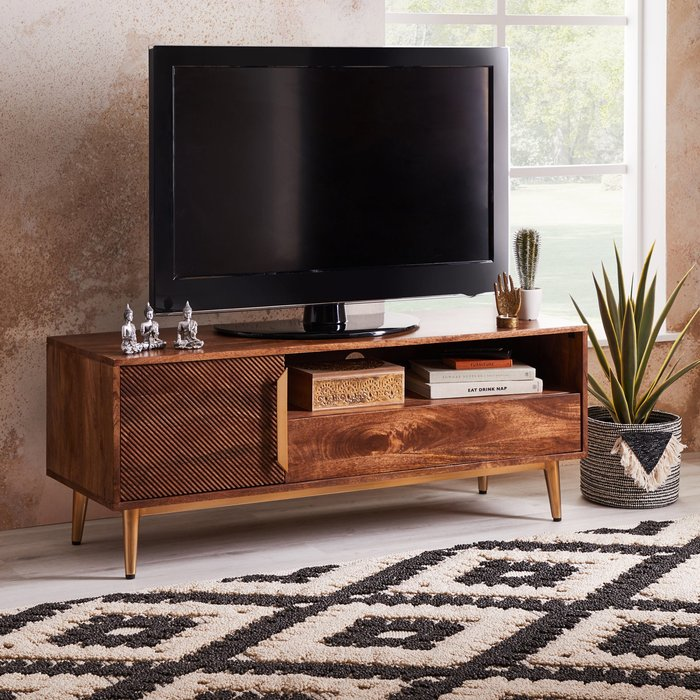 Anya Wide TV Stand Brown