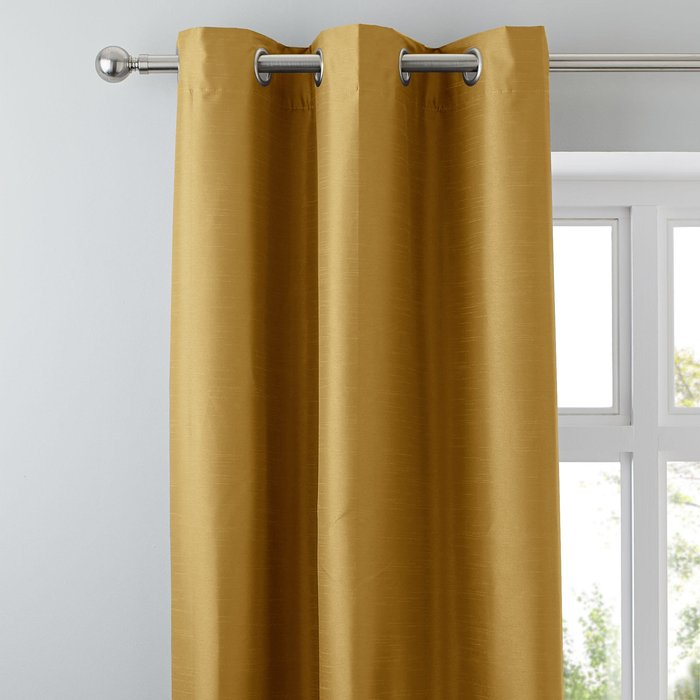 Nova Old Gold Blackout Eyelet Curtains Gold