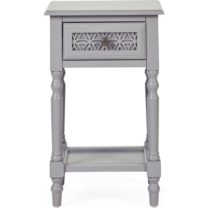 Carys 1 Drawer Bedside Table Grey