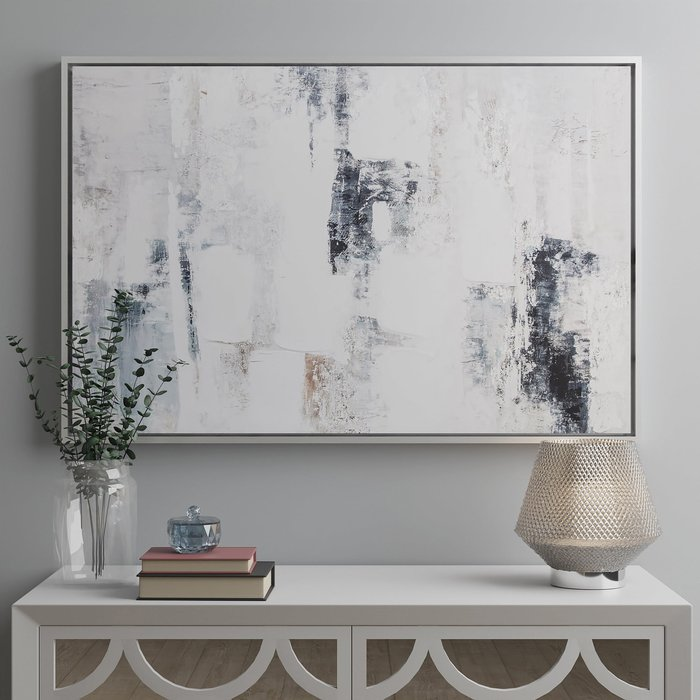 Reluxed Abstract Canvas Grey, Brown and White