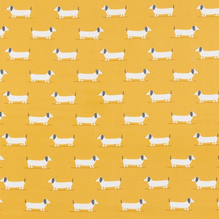 Bertie Ochre PVC Fabric Ochre