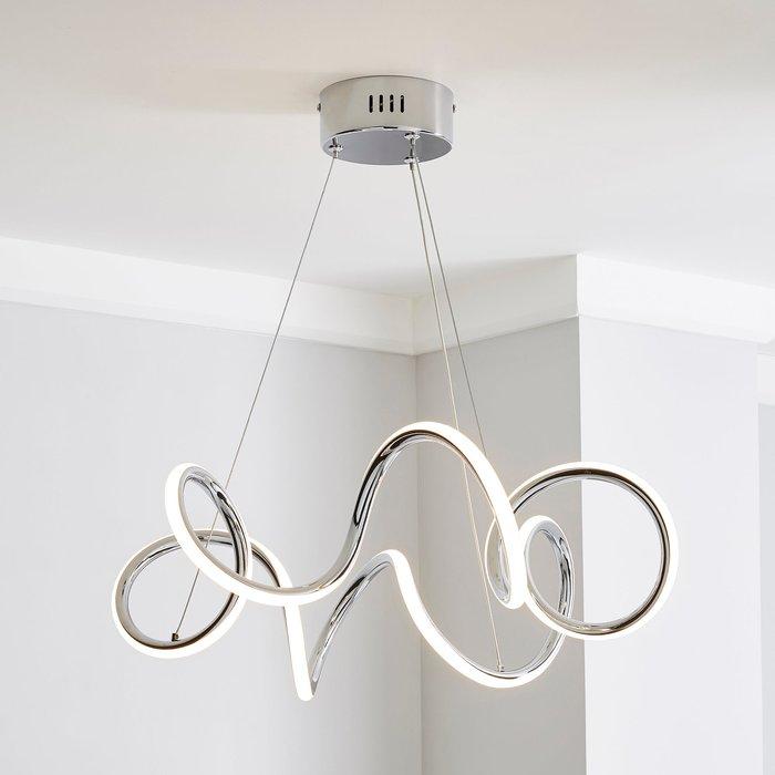 Skylar Curly LED Ceiling Fitting Chrome