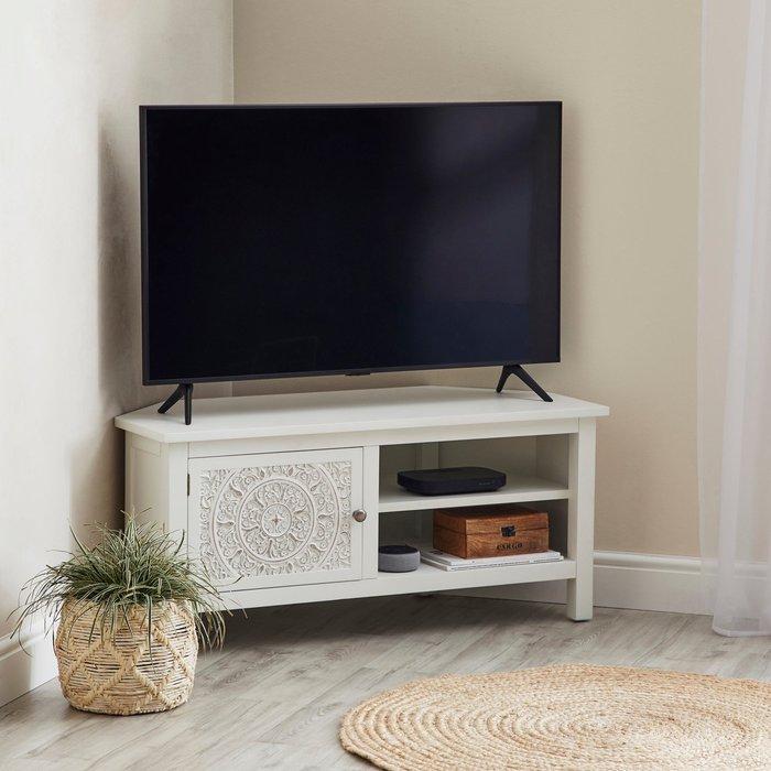 Samira Corner TV Unit White