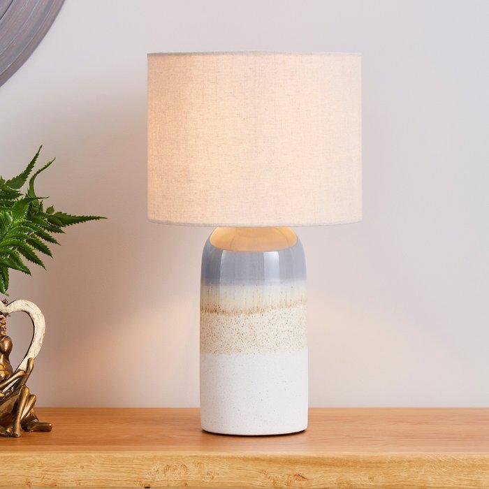 Audre Ceramic Glaze Table Lamp Natural