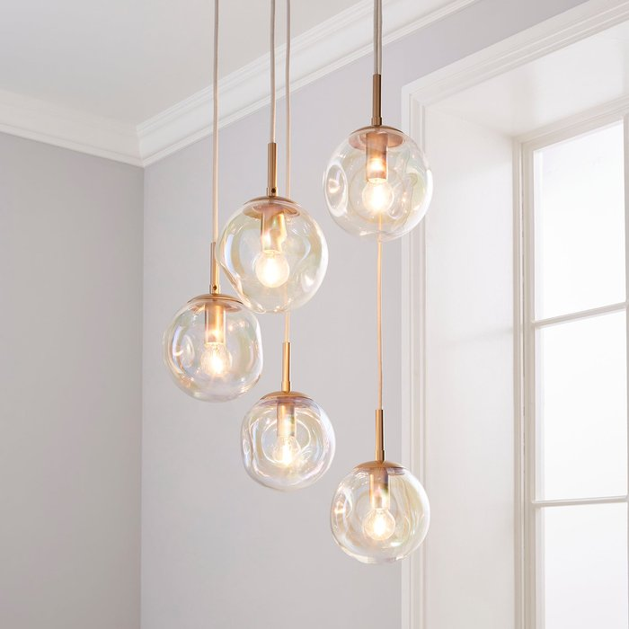 Alexis 5 Light Cluster Fitting Silver