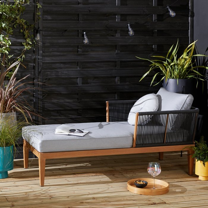 Elements Grey Rope Lounger Grey