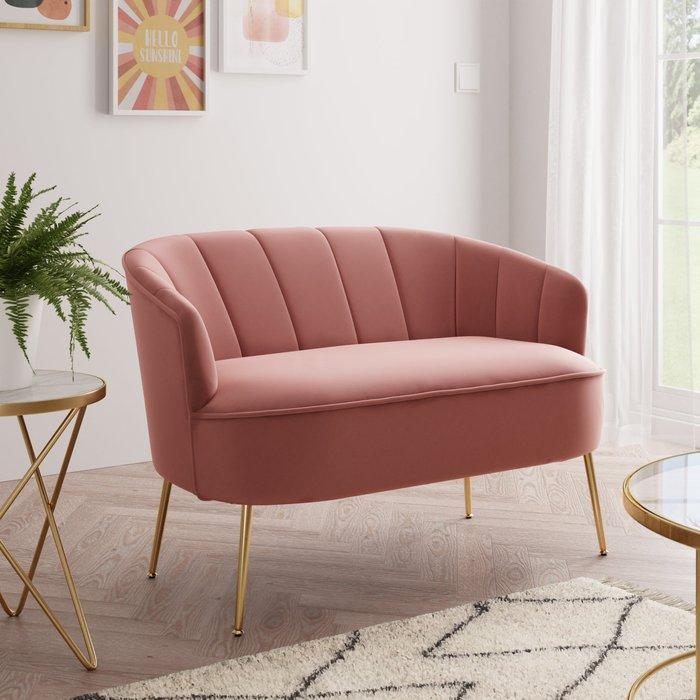 Matilda Velvet Two Seater Sofa Pink