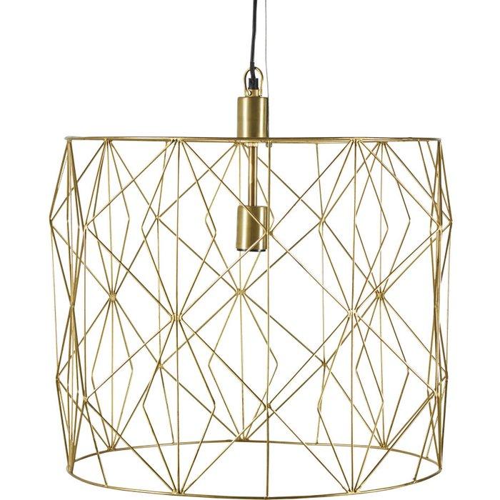Golden Wire Pendant Light
