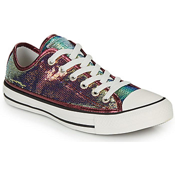 Converse Womens Converse Chuck Taylor Mini Sequin Ox Trainers -  Pink