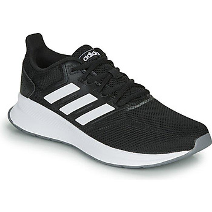 Adidas Womens adidas Black/White Run Falcon Trainers -  Black