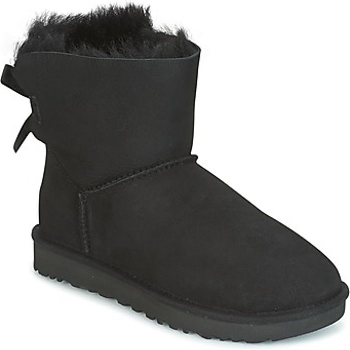 UGG Australia UGG Mini Bailey Bow, womens Mini Bailey Bow Ii Winter Boot, Black Nero, 39 EU, 6 UK
