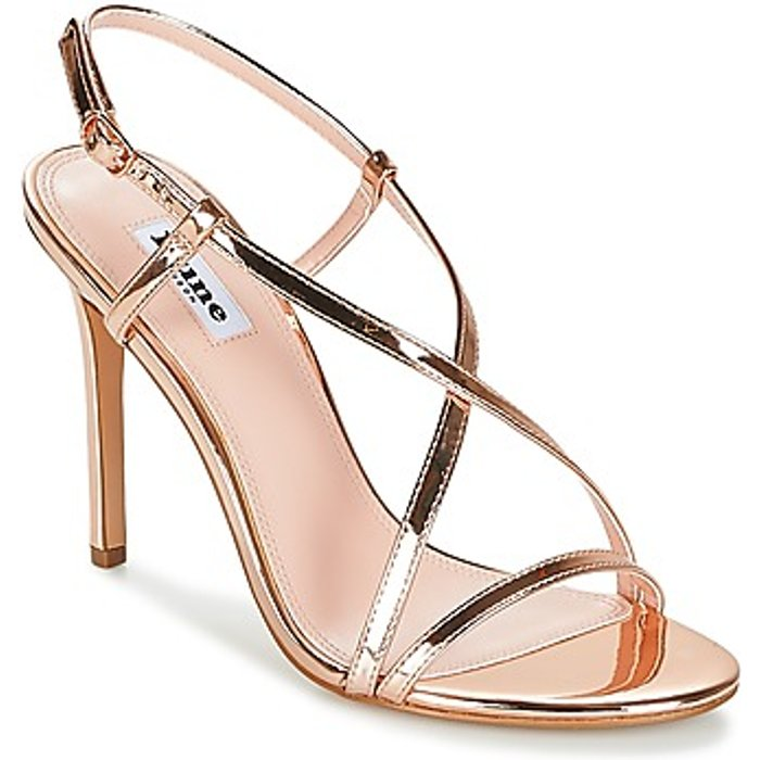 Dune Dune Women's Madeena Strappy Heeled Sandals - Rose Gold - UK 8 - Gold