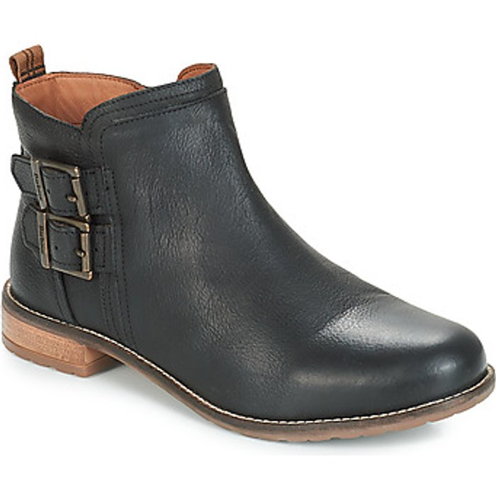 Barbour Barbour Women's Sarah Leather Low Buckle Ankle Boots - Black - UK 3 - Black
