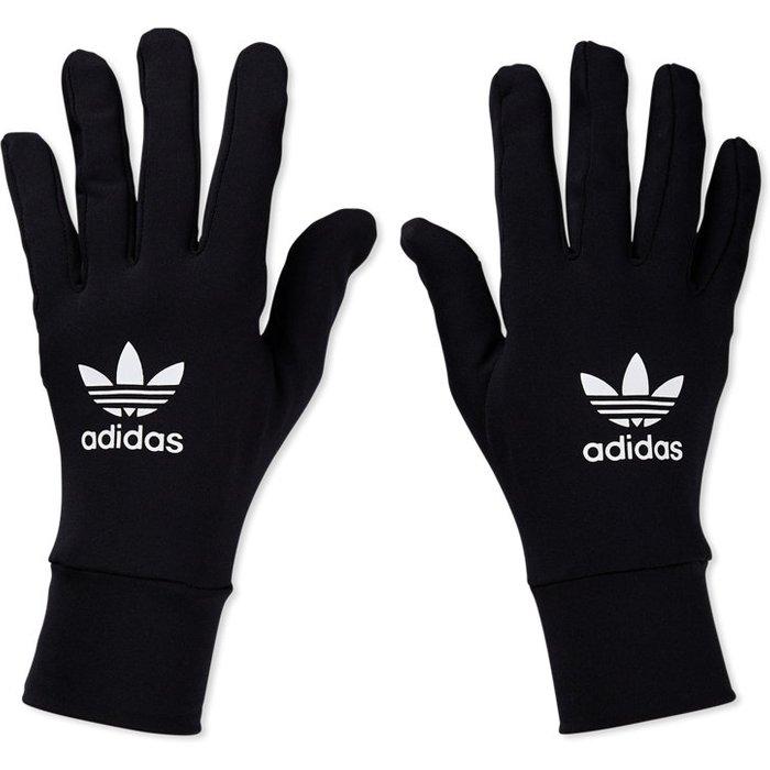 adidas originals Mens adidas Originals Black Techy Gloves -  Black