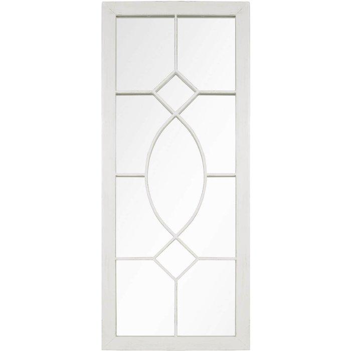 Antique Garden Mirror 105x43cm - White