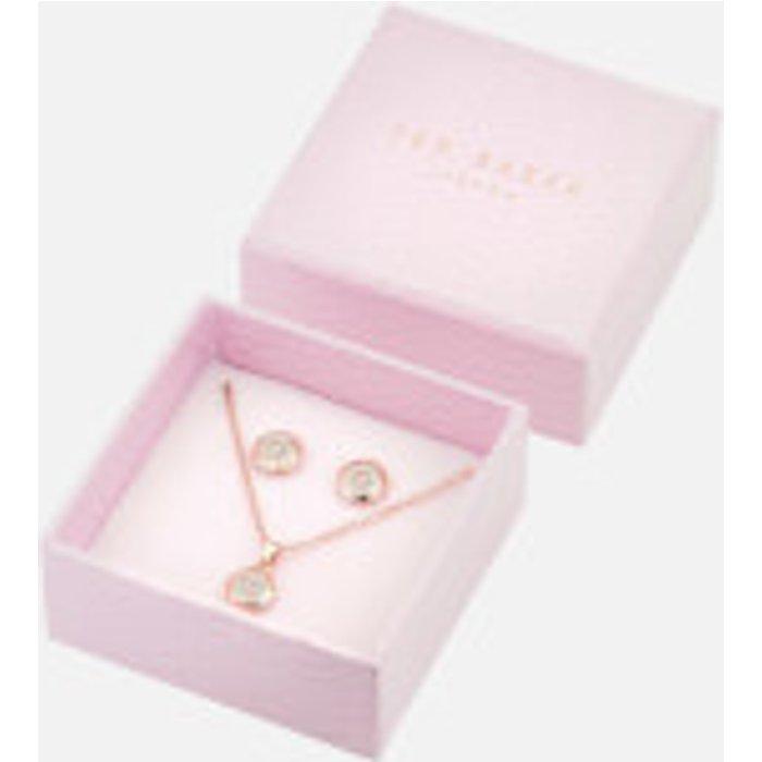 Ted Baker Womens Ted Baker Rose Gold Glitter Emillia Mini Button Gift Set -  Metallic