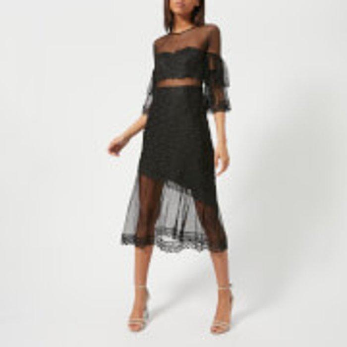 Three Floor Three Floor Women's Deep Moon Lace Dress - Black - UK 8 - Black