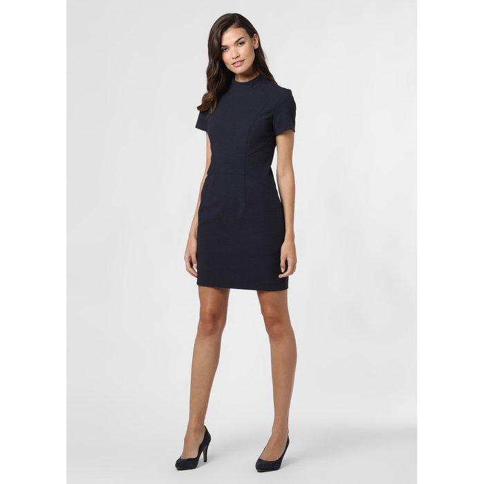 Artikel klicken und genauer betrachten! - Teilungsnähte unterstreichen die feminine Silhouette, während die strukturierte Qualität für eine spannende Optik sorgt: das Kleid Kabecci von HUGO.   im Online Shop kaufen