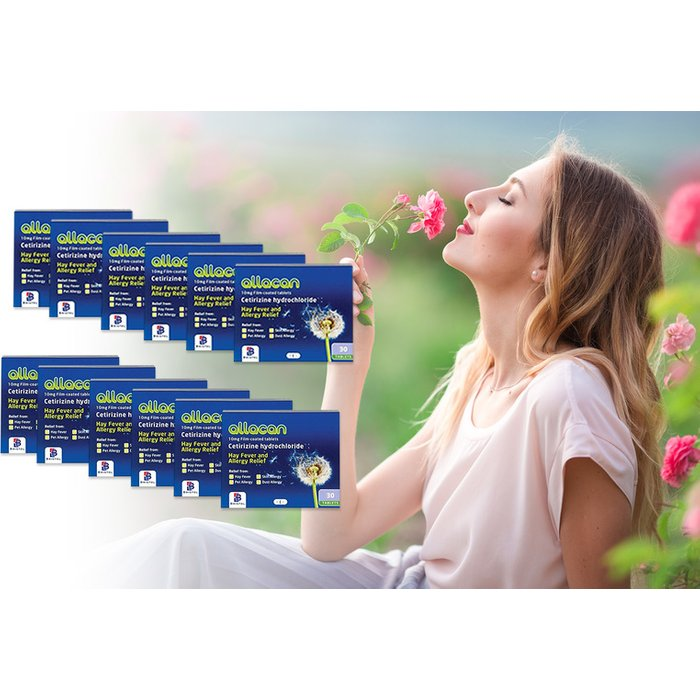 Save 81% - £4.99 (from Pharmacy First) for a six-month* supply of Cetirizine allergy tablets, or £7.99 for a 12-month* supply - stop the sniffles