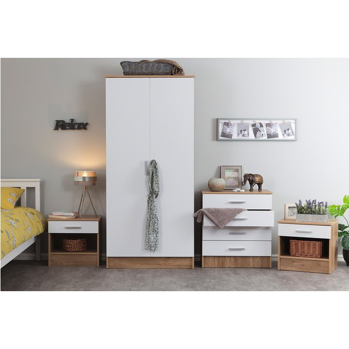 Save 37% - 3pc or 4pc Bedroom Furniture Set – Wardrobe, Chest & Cabinets