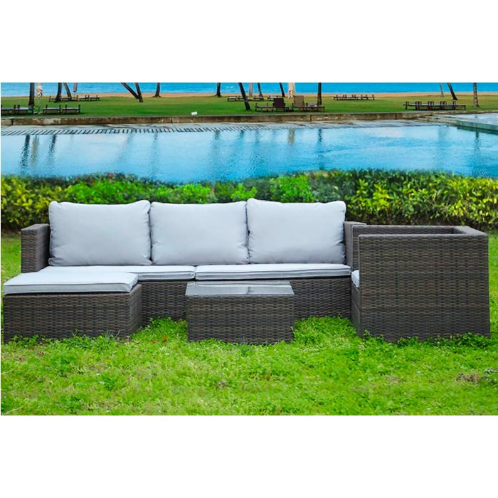 Save 64% - Corner Rattan Sofa Set - 5-Seater