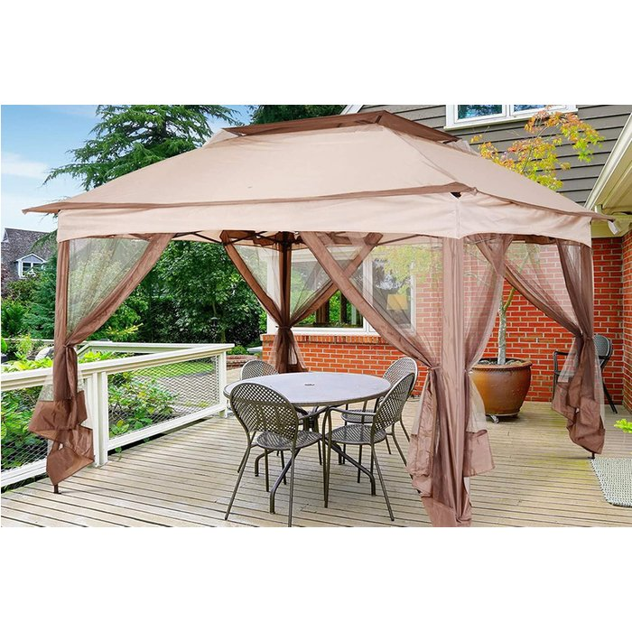 HALF PRICE! 3.25m Gazebo - Khaki/Brown