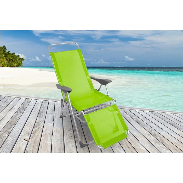 Save 61% - Sun Lounger Recliner Chair - Black, Blue, Lime or Red