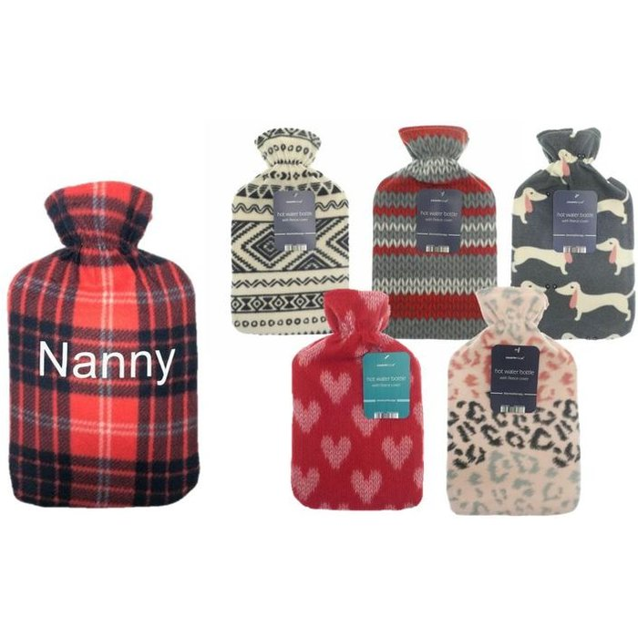 Save 40% - Personalised Hot Water Bottle - 6 Designs!