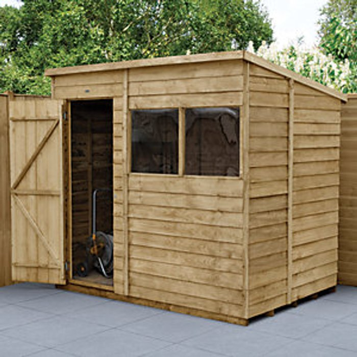 Forest Garden Forest Garden 7 x 5 ft Pent Overlap Pressure Treated Potting Shed with Assembly