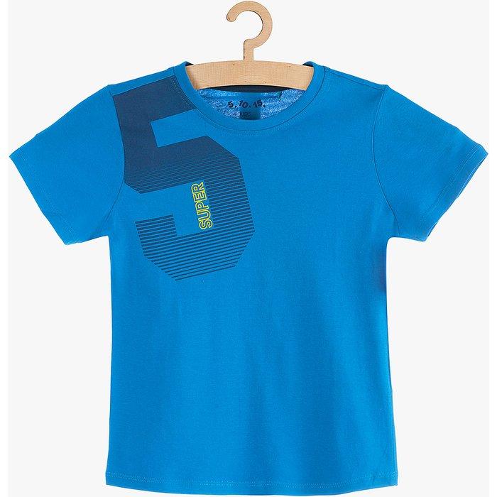 T-Shirt chłopięcy niebieski 1I3806