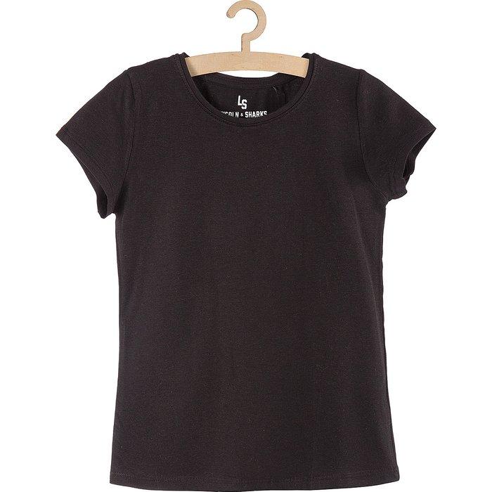 T-shirt dziewczęcy czarny 4I9715