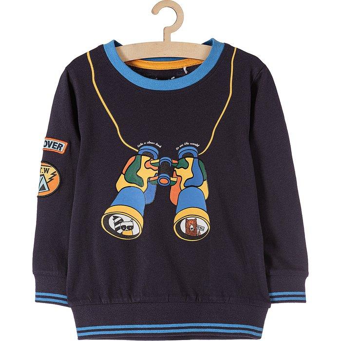 Bluza z cienkiej dzianiny dresowej1H3725