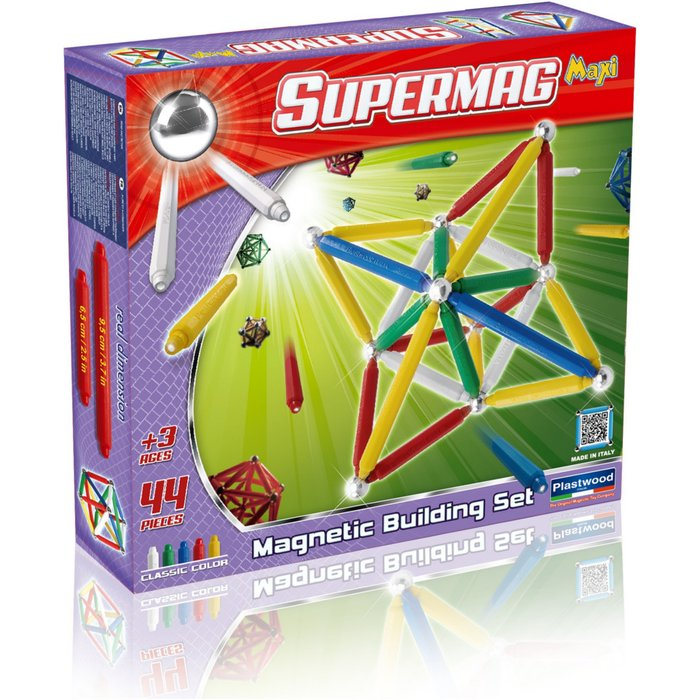 Klocki magnetyczne Supermag 44 el 4Y33A7