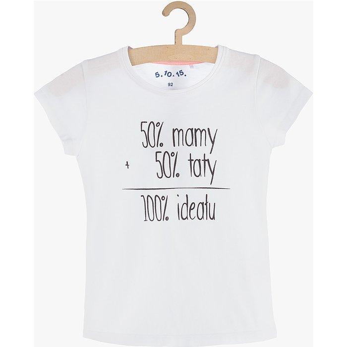 T-shirt dziewczęcy biały 3I3849