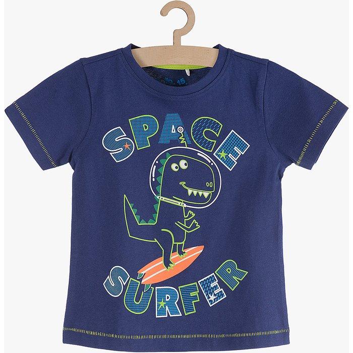 T-shirt chłopięcy granatowy 1I3722