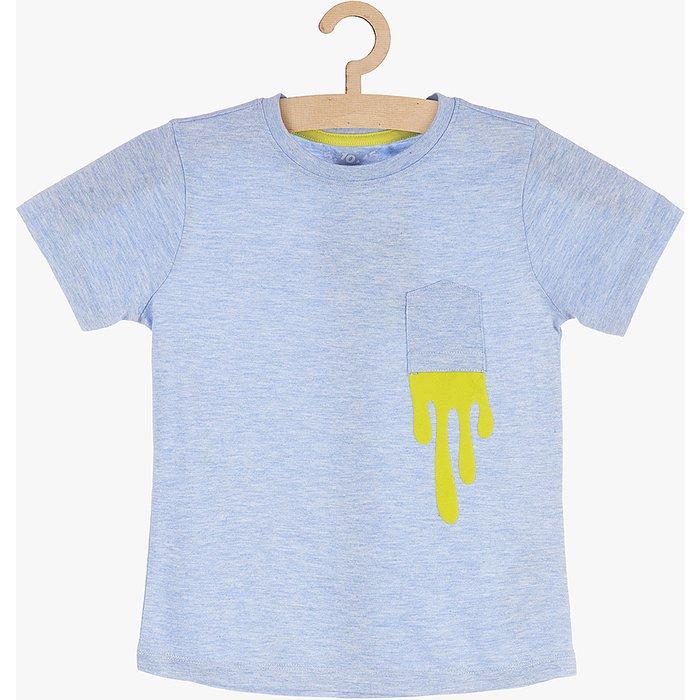 T-shirt chłopięcy niebieski 1I3810