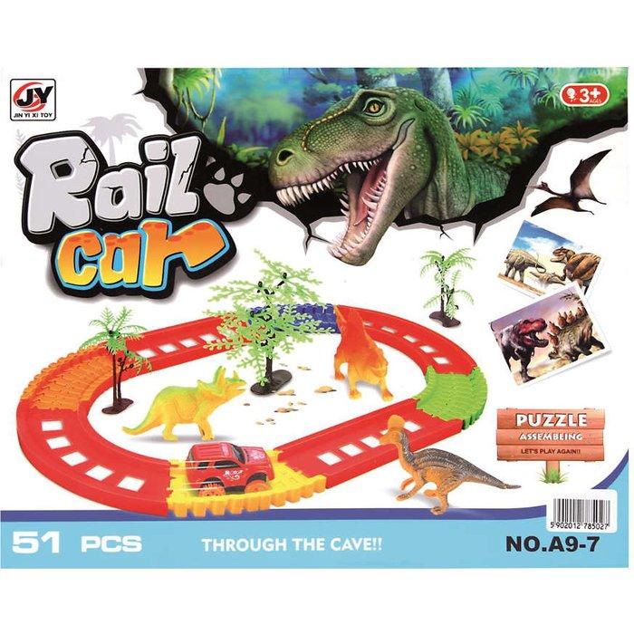 Tor samochodowy Dinozaury RailCar 1Y31AT