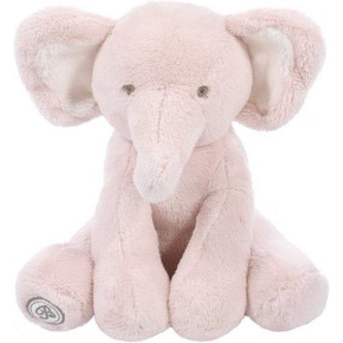 Słoń Dominique różowy z apaszką 5O36IT