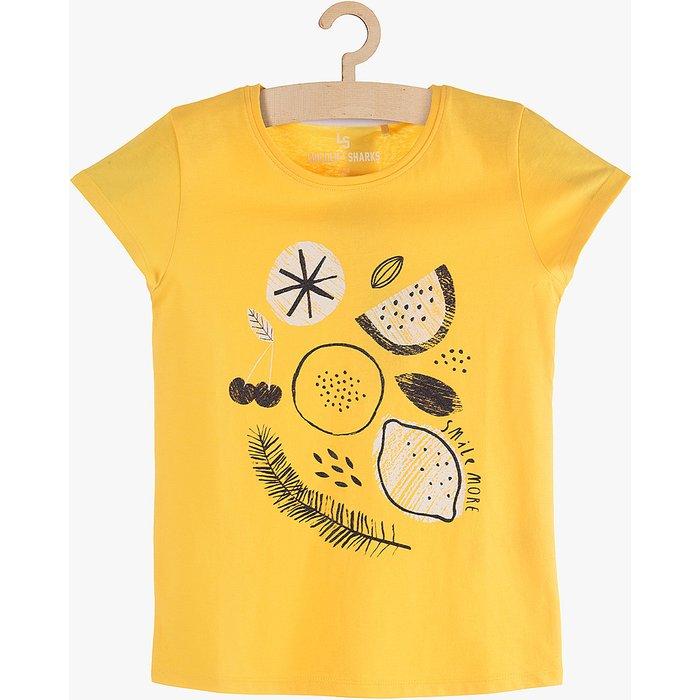 T-Shirt dziewczęcy z cytrynami 4I3817