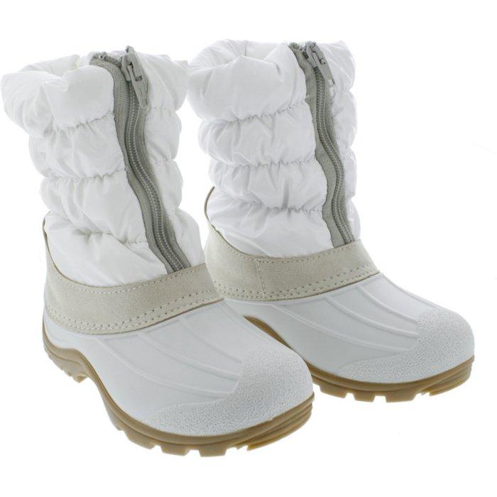 Śniegowce dziewczęce białe 3Z37AP