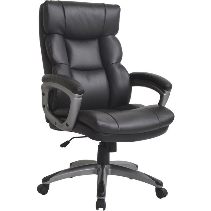 Vida Living Director Dark Brown Faux Leather Office Chair