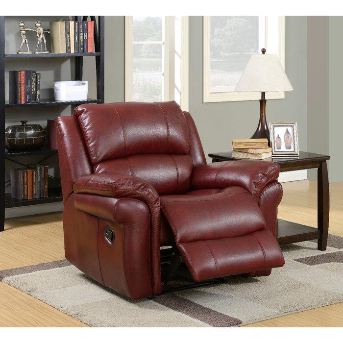 Finchley Burgundy Leather Armchair