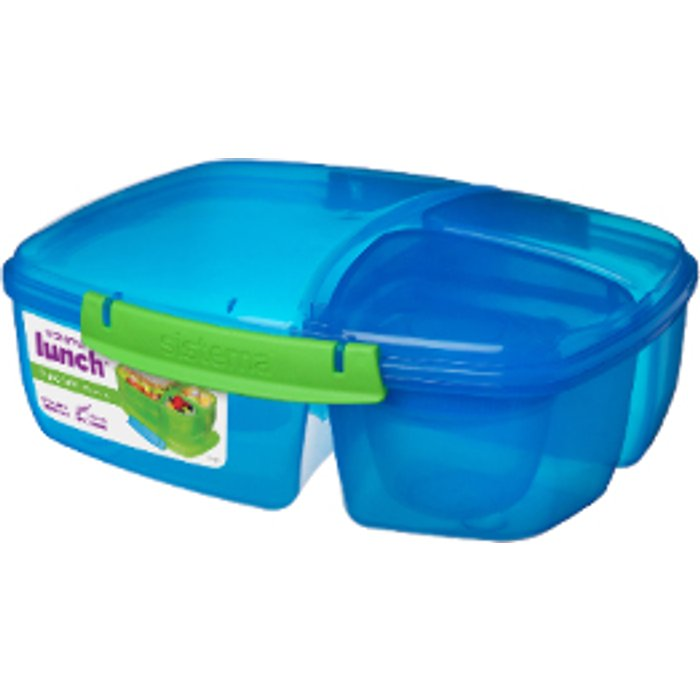 Sistema Triple Split Lunch Box - Blue