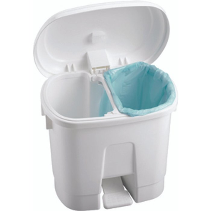 The Range Derby 60L White Plastic Bin Blue Lid - White