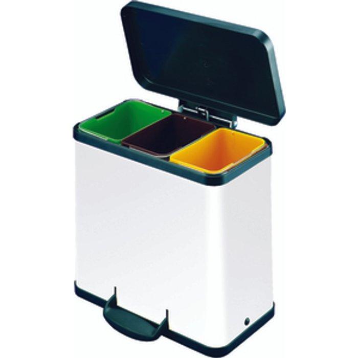 The Range Trento Oko 3 x 9L Recycling Bin - White