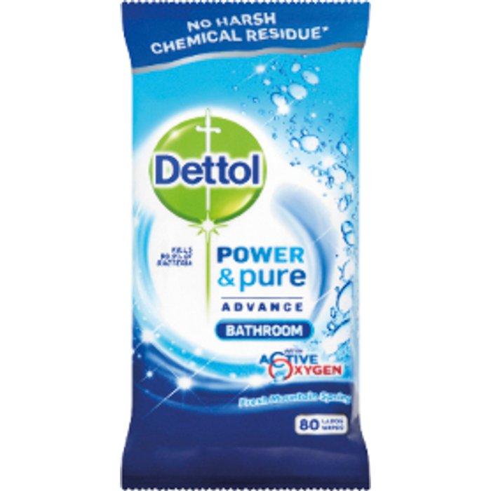 Dettol Dettol Power & Pure Advance Bathroom Wipes