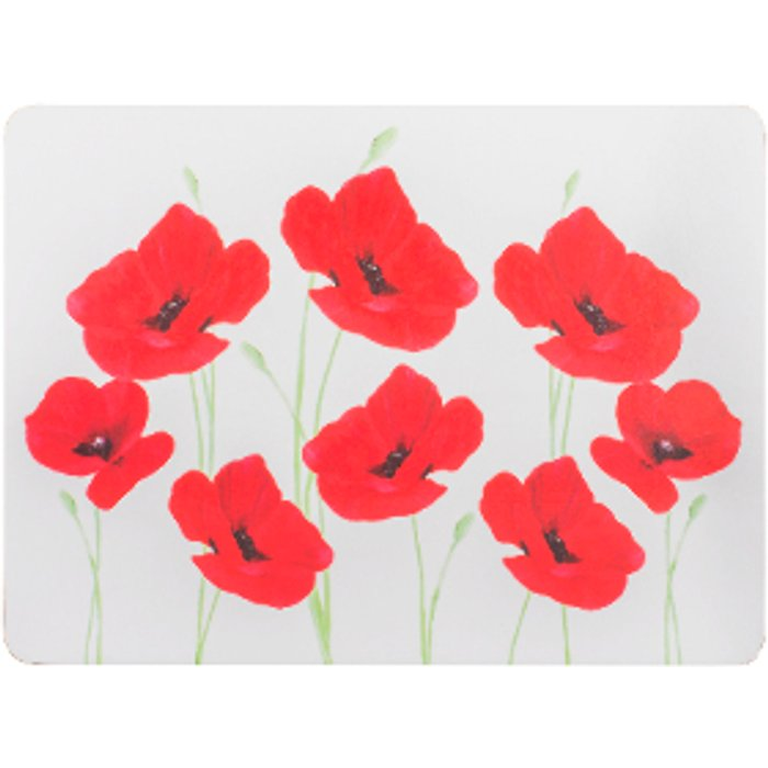 The Range Four Pack Of Poppy Garden Placemats