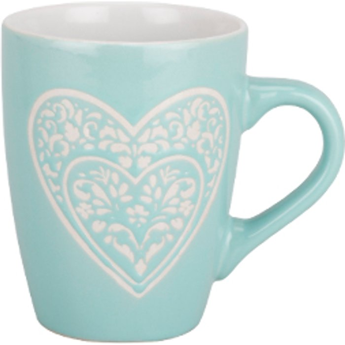 The Range Lace Heart Stoneware Mug