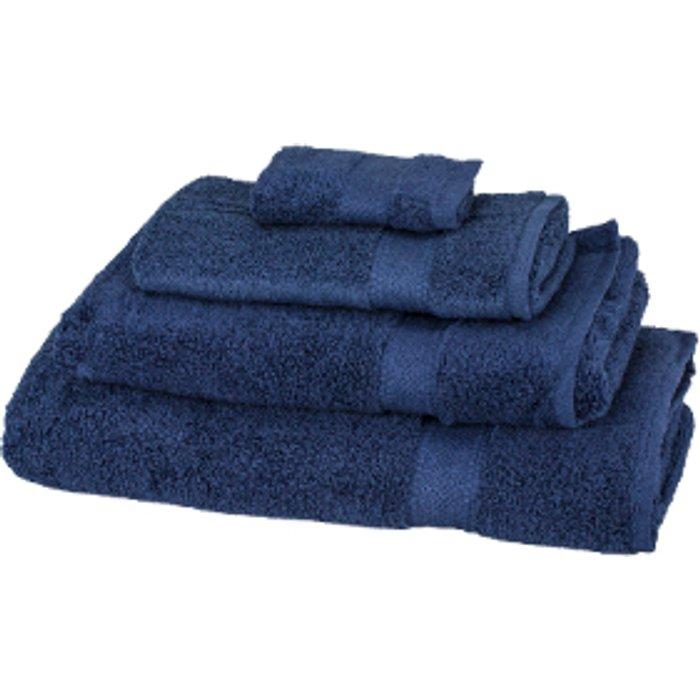 The Range Zero Twist Hand Towel - Navy